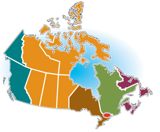 Map Of The Regions Of Canada.Environment And Climate Change Canada About Environment And