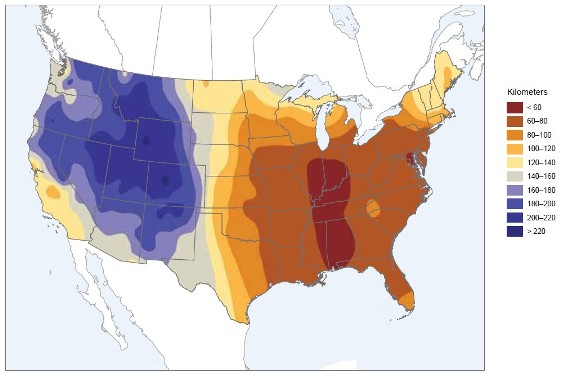 Environment And Climate Change Canada Air CanadaUnited States - Acid deposition map of us