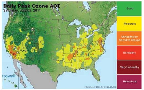 Environment And Climate Change Canada Air CanadaUnited States - Air quailty map us