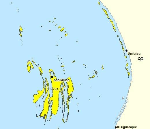 Sous-région de prévisions - Sanikiluaq