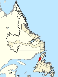 Carte de localisation - Parson's Pond - Hawke's Bay