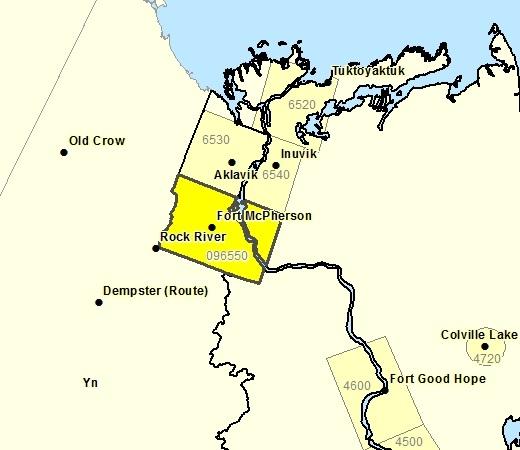 Sous-région de prévisions de la région du Delta sud incluant Ft. McPherson - Tsiigehtchic