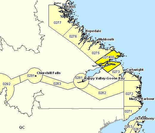 Sous-région de prévisions de Rigolet et les environs