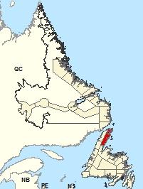 Carte de localisation - Péninsule Northern Est