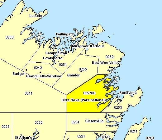 Sous-région de prévisions - Terra Nova