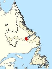 Carte de localisation - Partie supérieure du lac Melville