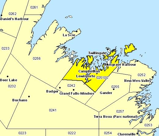 Sous-région de prévisions de la baie des Exploits
