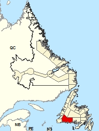 Carte de localisation - Burgeo - Ramea