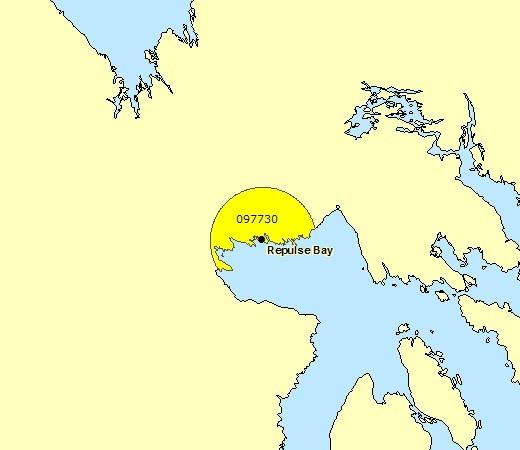 Sous-région de prévisions - Repulse Bay