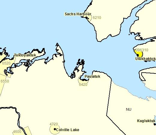 Sous-région de prévisions de Ulukhaktok