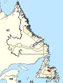 Carte de localisation - Grand Falls-Windsor et les environs