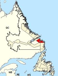 Carte de localisation - Cartwright à Black Tickle