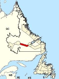 Carte de localisations - Vallée de Churchill