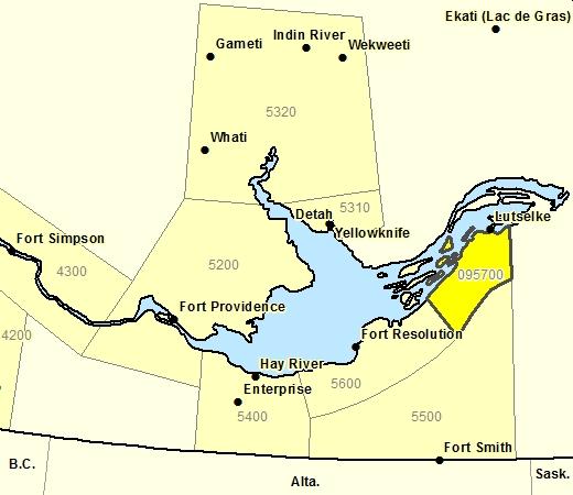 Forecast Sub-regions of Lutsel K'e Region