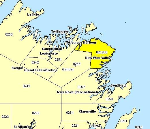 Sous-région de prévisions de Bonavista Nord