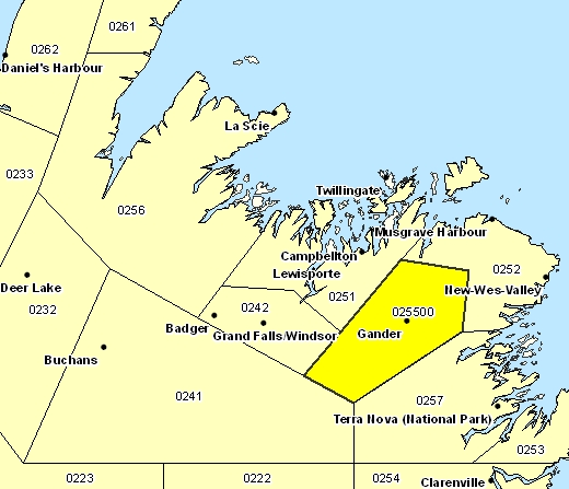Gander Canada Map.Archived Environment And Climate Change Canada Weather And