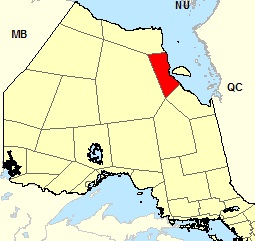 Carte de localisation - Attawapiskat