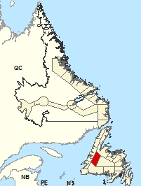 Carte de localisation - Deer Lake - vallée de Humber
