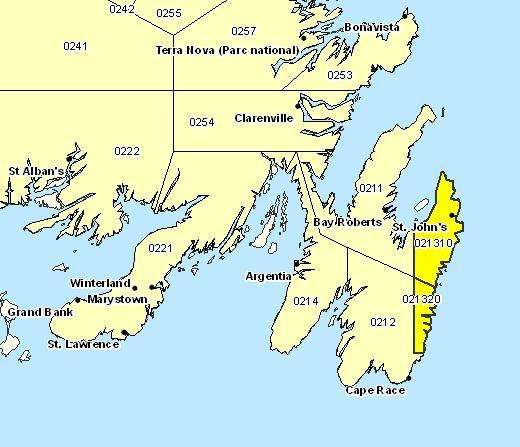 Sous-région de prévisions de St. John's et les environs