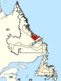 Carte de localisations - Postville - Makkovik