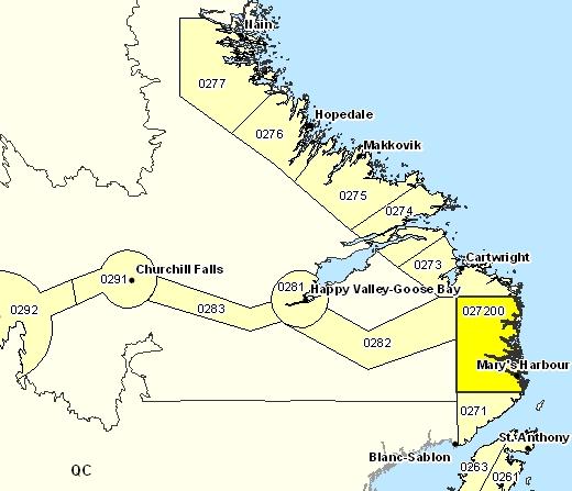 Sous-régions de prévisions de Norman Bay à Lodge Bay