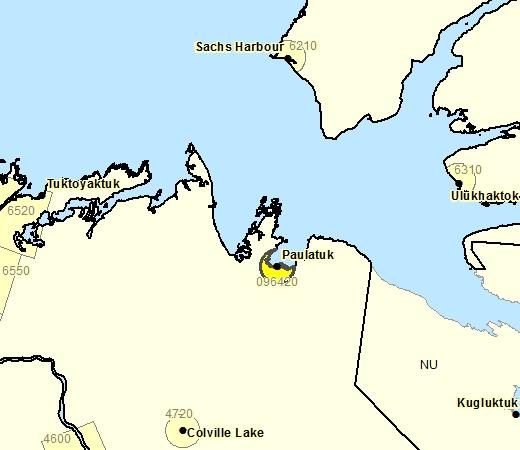 Sous-région de prévisions de Paulatuk