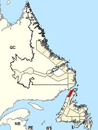Carte de localisation - Port Saunders et les détroits