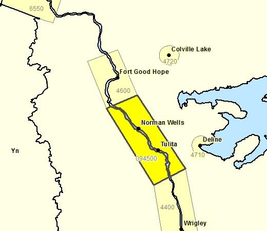 Sous-région de prévisions pour la région de Norman Wells - Tulita