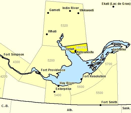 Sous-région de prévisions de la région de Yellowknife