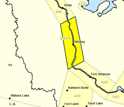 Sous-région de prévisions de la région de Wrigley
