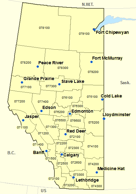 Province of Alberta map