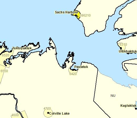 Sous-région de prévisions de Sachs Harbour