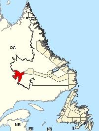 Carte de localisation - Labrador City et Wabush
