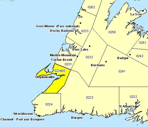 Sous-région de prévisions de Baie St. George