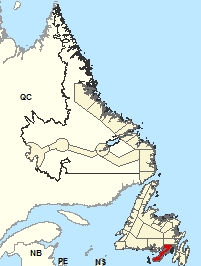Location Map - Burin Peninsula