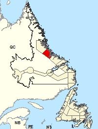 Carte de localisations - Hopedale et les environs