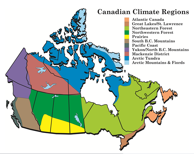 Environment and Climate Change Canada Climate Change Climate – Regional Map of Canada